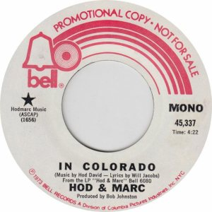 COLORADO T HOD MARC 1963 A