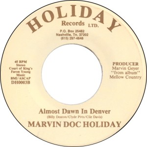 COLORADO T HOLIDAY MARVIN DOC 1970'S