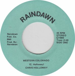 COLORADO T HOLLOWAY CHRIS 1980 C