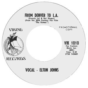 COLORADO T JOHN ELTON 1970 A