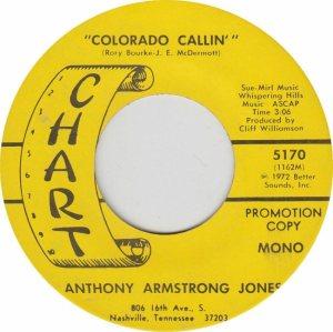 COLORADO T JONES ANTHONY 1972 B