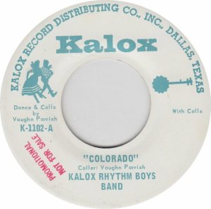 COLORADO T KALOX RHYTHM BOYS 1970'S A