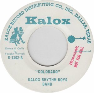 COLORADO T KALOX RHYTHM BOYS 1970'S B