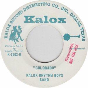 COLORADO T KALOX RHYTHM BOYS 1970'S B