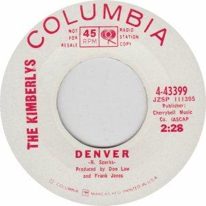 COLORADO T KIMBERLYS 1965 A