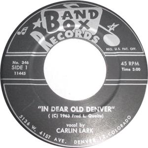 COLORADO T LARK CARLIN 1963
