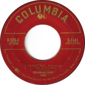 COLORADO T LUBOFF CHOIR 1955