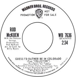COLORADO T MCKUEN ROD 1972 A