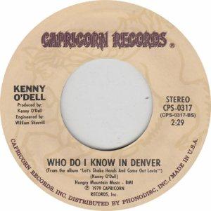 COLORADO T O'DELL KENNY 1979 A