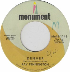 COLORADO T PENNINGTON RAY 1969 B