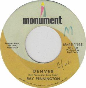 COLORADO T PENNINGTON RAY 1969 B