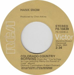 COLORADO T SNOW HANK 1975