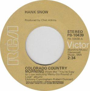 COLORADO T SNOW HANK 1975
