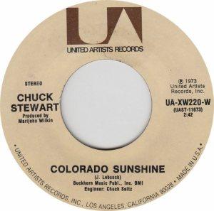 COLORADO T STEWART CHUCK 1973 A