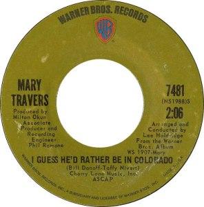 COLORADO T TRAVERS 1971 A
