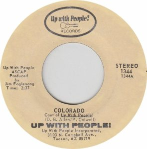 COLORADO T UP WITH PEOPLE 1972 B