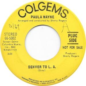 COLORADO T WAYNE PAULA 1969 A