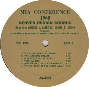 DENVER REGION CHORUS - 68-4559