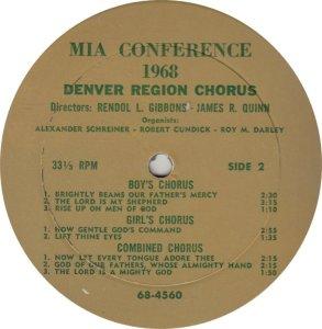 DENVER REGION CHORUS - 68-4559_0001