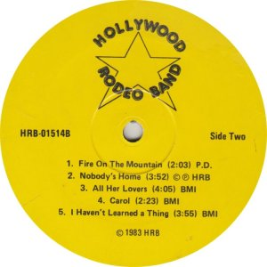 HOLLYWOOD RODEO BAND - 1514a (2)