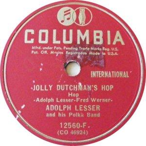 LESSER ADOLPH - COLUMBIA 12560 B