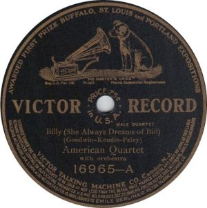 MURRAY BILLY - 1911 16965