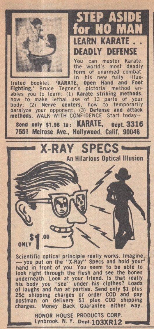 1965 X RAY SPECS