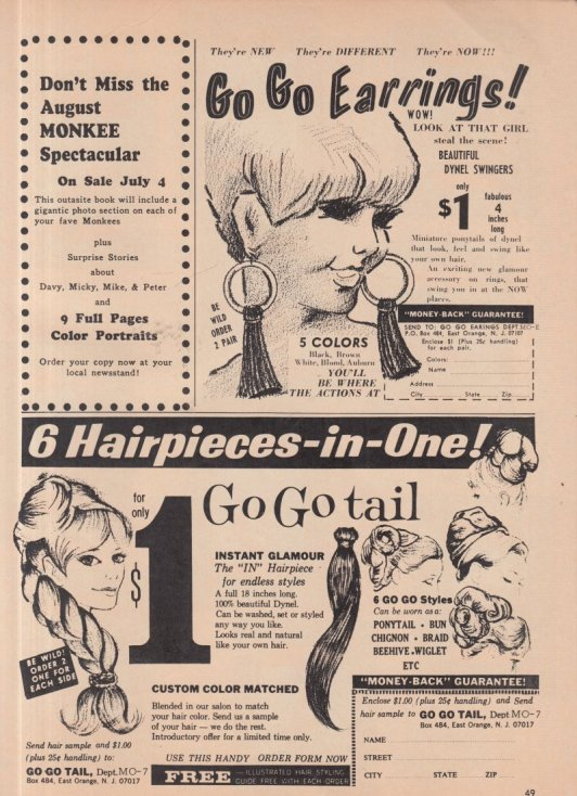 1967 GO GO EARRINGS