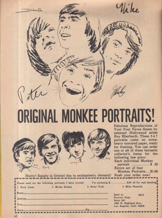 1967 MONKEE PORTRAITS