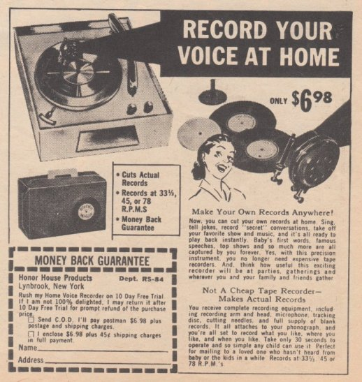 1961 RECORD YOUR VOICE