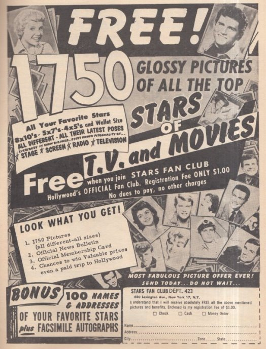 1962 - FREE GLOSSY PHOTOS