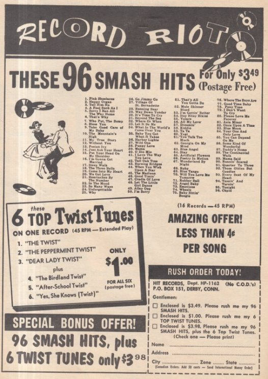 1962 - HIT RECORDS