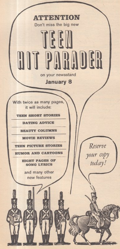 1963 FEB TEEN HIT PARADER