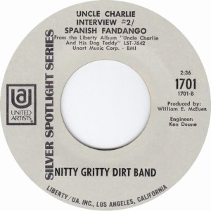 NITTY GRITTY DIRT BAND - UA 1701 B