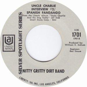 NITTY GRITTY DIRT BAND - UA 1701 B