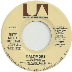 NITTY GRITTY DIRT BAND - UA 50921 A