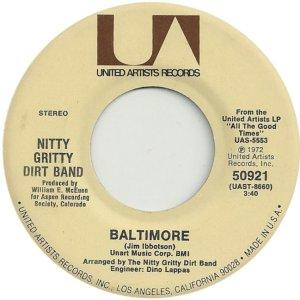 NITTY GRITTY DIRT BAND - UA 50921 A