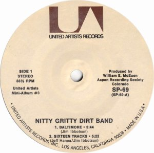 NITTY GRITTY DIRT BAND - UA 61 I