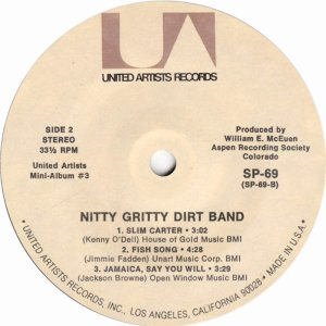 NITTY GRITTY DIRT BAND - UA 61 J
