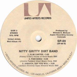 NITTY GRITTY DIRT BAND - UA 61 J