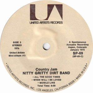 NITTY GRITTY DIRT BAND - UA 61 K