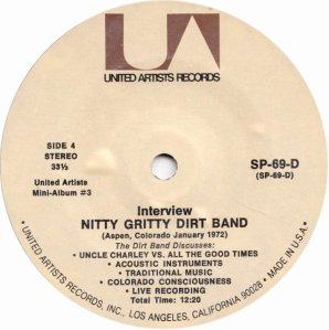 NITTY GRITTY DIRT BAND - UA 61 L