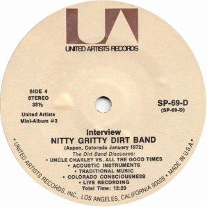 NITTY GRITTY DIRT BAND - UA 61 L