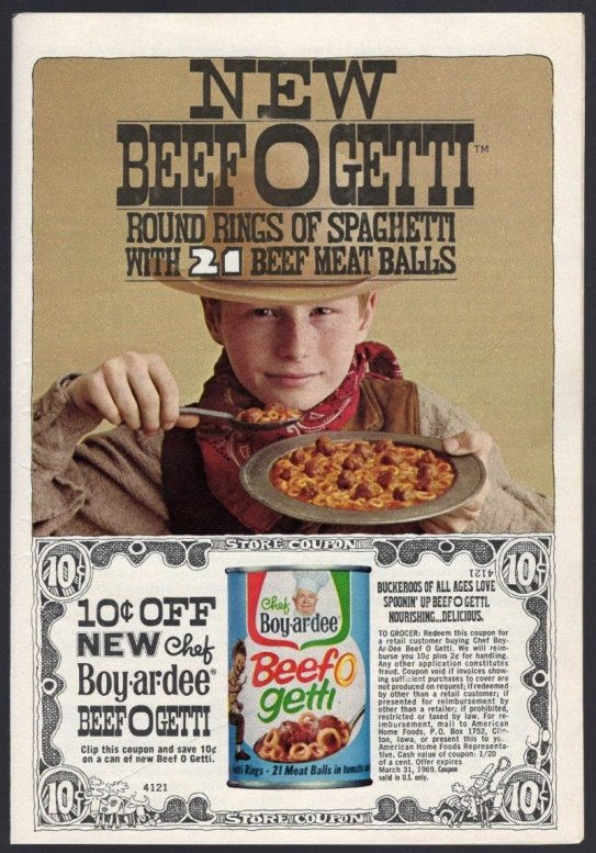 1968 CHEF BOY R DEE