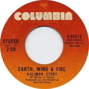 CARIBOU 1974 - EARTH WIND FIRE 45 B