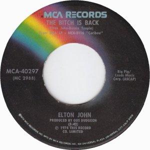 CARIBOU 1974 - ELTON JOHN 45 A