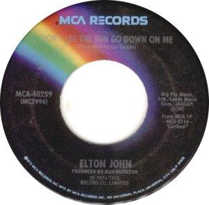 CARIBOU 1974 - ELTON JOHN 45 B