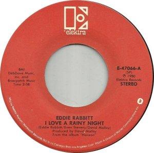 CARIBOU 1980 - EDDIE RABBITT 45
