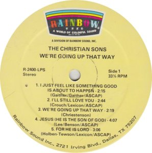 CHRISTIAN SONS - RAINBOW