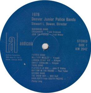 DENVER POLICE BAND - KAUD 2042